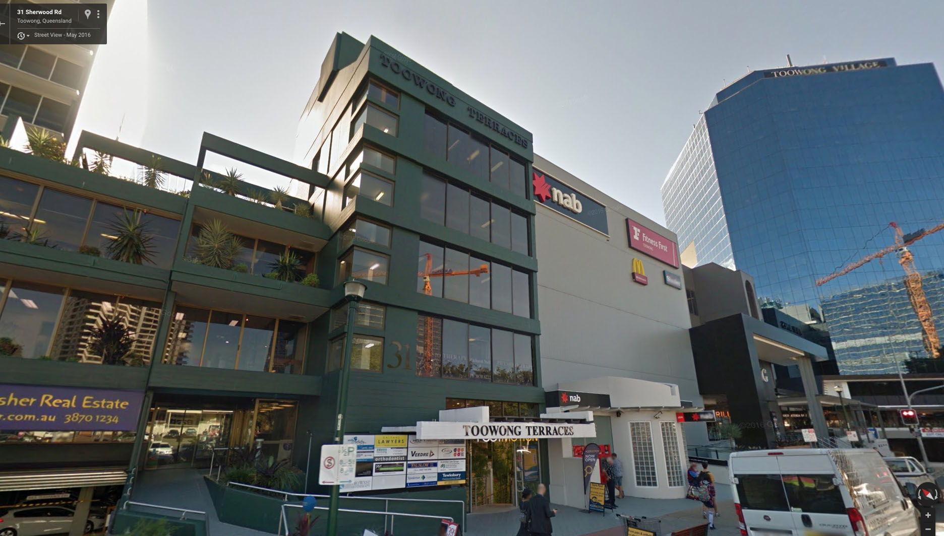 We are located directly adjacent to Toowong Village Shopping Centre at 31 Sherwood Rd